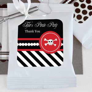 Pirate Party Personalized Hot Cocoa + Optional Heart Whisk image