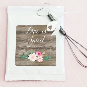 Personalized Floral Garden Lemonade Favors image