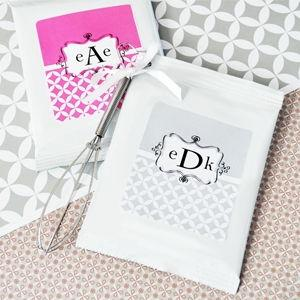 Mod Monogram Personalized Hot Cocoa + Optional Heart Whisk image