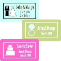 Rectangle Wedding Favor Labels (Set of 35)
