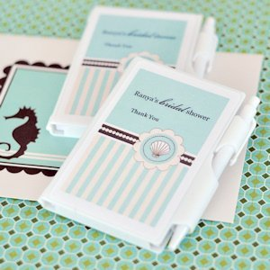 Personalized Notebook Beach Theme Party Favors image
