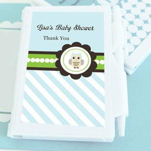 Blue Owl Personalized Notebook Favors image