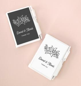 Floral Silhouette Notebook Favors image