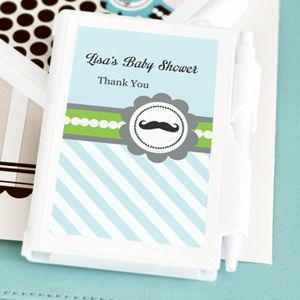 Little Man Party Personalized Notebook Favors image