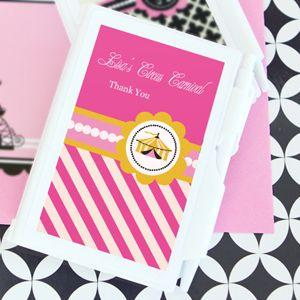 Pink Circus Party Personalized Notebook Favors image