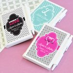 Love Story Theme Notebook Favors