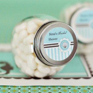 Personalized Candy Jars - Beach Party Favors image