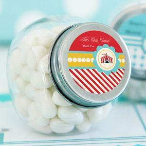 Circus Carnival Party Personalized Candy Jars image
