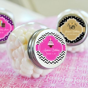 Personalized Birthday Candy Jars image