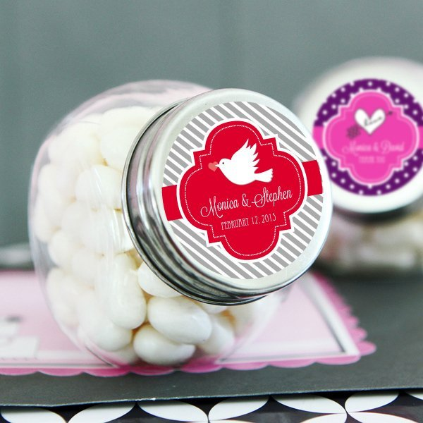 Personalized Wedding Candy: Personalized Wedding Candy Jar Favors
