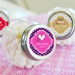 Personalized Wedding Candy Jar Favors