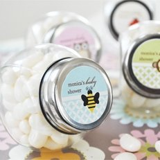 Baby Animals Personalized Candy Jar Shower Favors image