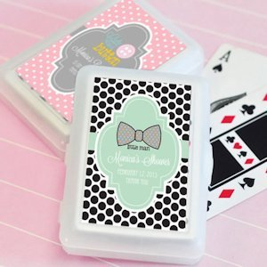 Baby Shower Personalized Playing Card Favors image