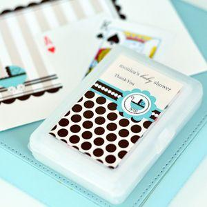 Personalized Playing Cards - Blue Baby image