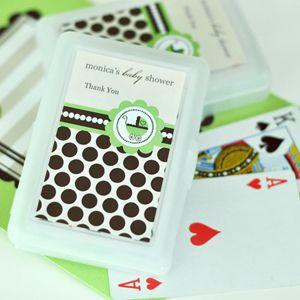 Personalized Playing Cards - Green Baby image