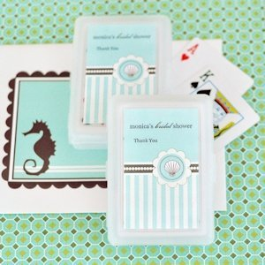 Playing Card Personalized Beach Bridal Shower Favors image