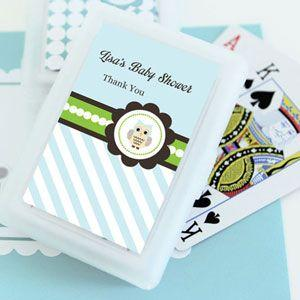 Blue Owl Personalized Playing Cards image