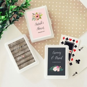 Personalized Floral Garden Playing Cards image