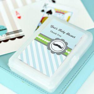 Little Man Party Personalized Playing Cards image