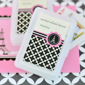 Personalized Playing Cards - Parisian Party image