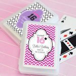 Sweet 16 or 15 Personalized Playing Card Favors