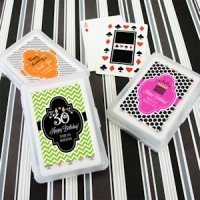 Personalized Birthday Playing Card Favors