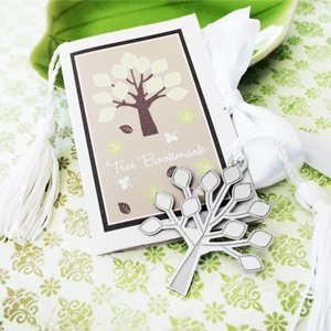 Silver Tree Bookmark Favors image