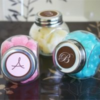 Personalized Monogrammed Candy Favor Jars