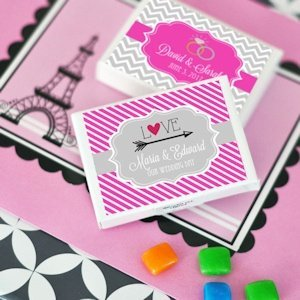 Stuck on Love Gum Box Favors image