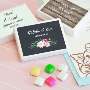 Personalized Floral Garden Gum Boxes image