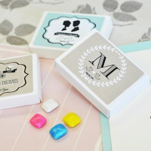 Vintage Wedding Personalized Gum Boxes image