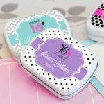 Sweet Sixteen (or 15) Personalized Tin Favors