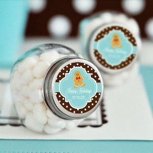 Winter Holiday Personalized Candy Jars image
