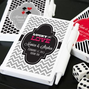 Lucky Pair Vegas Themed Personalized Notebook Favors image