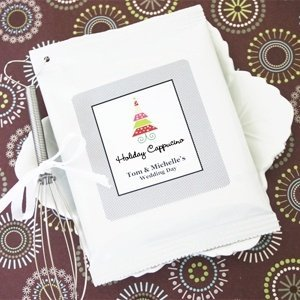 Winter Holiday Personalized Cappuccino Favors image