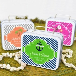 Wedding Mini Suitcase Favor Tins image