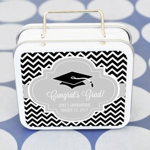 Graduation Personalized Favor Suitcase Tins image