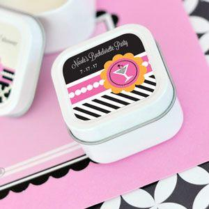 Bachelorette Party Personalized Square Candle Tins image