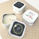 Personalized Floral Garden Square Candle Tins