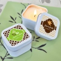 Personalized Fall for Love Candle Tins