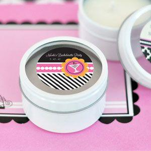 Bachelorette Party Personalized Round Candle Tins image