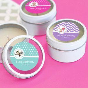 Personalized MOD Kid's Birthday Round Candle Tins image