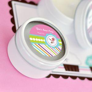 Sweet Shoppe Party Personalized Round Candle Tins image
