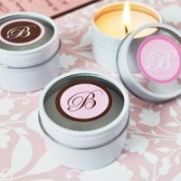 Personalized Monogram Round Candle Tins