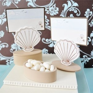 Seashell Place Card Holder Favor Box (Set of 12) image