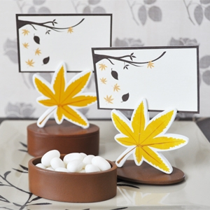 Autumn Leaf Place Card Holder Favor Box (Set of 12) image