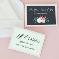 Personalized Floral Garden Tissue Packs