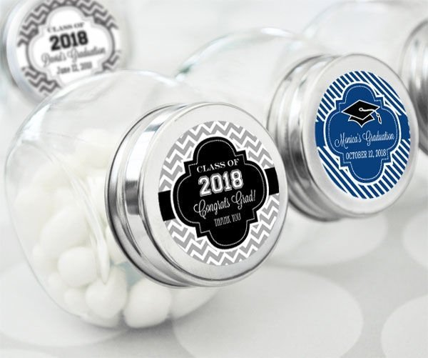 Personalized Graduation Party Favor Candy Jars