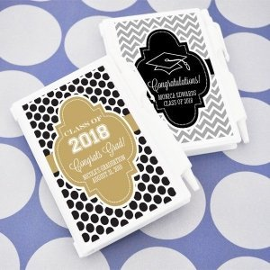 Personalized Notebook Favors for Graduation Party image