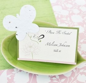 Plantable Butterfly Seeded Paper Place Cards (Set of 12) image